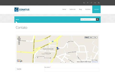 Screenshot of Contact Page conatussoftware.com.br - Contato | Conatus Software - captured Oct. 2, 2014
