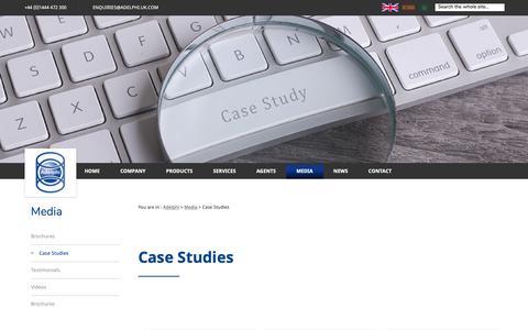 Screenshot of Case Studies Page adelphi.uk.com - Customer Case Studies | Adelphi - captured Oct. 3, 2018