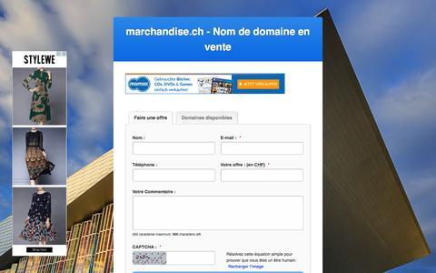 Screenshot of Home Page marchandise.ch - MARCHANDISE.CH - NOM DE DOMAINE EN VENTE - captured Feb. 4, 2016