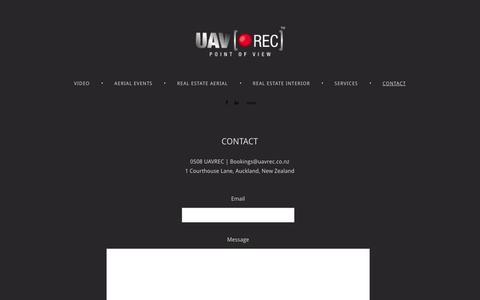 Screenshot of Contact Page 4ormat.com - UAVREC - Contact - captured Oct. 10, 2014