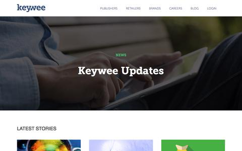 Screenshot of Press Page keywee.co - News – Keywee - captured July 13, 2018
