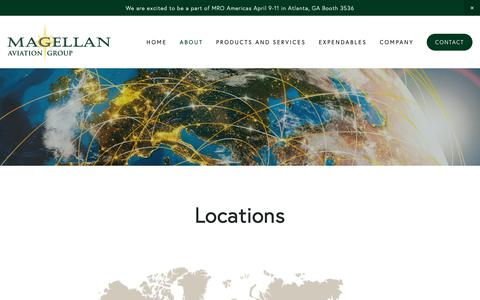 Screenshot of Locations Page magellangroup.net - Locations — Magellan Aviation Group - captured April 16, 2019