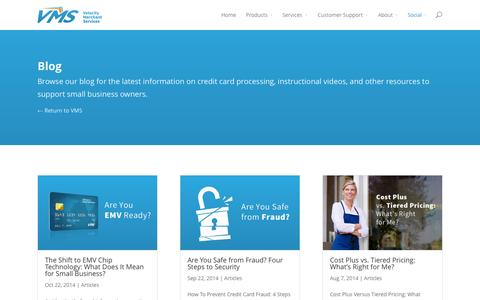 Screenshot of Blog getvms.com - Blog - Velocity Merchant Services - captured Oct. 26, 2014