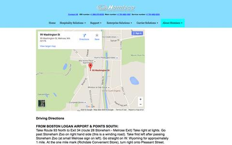 Screenshot of Maps & Directions Page homisco.com - Directions - captured July 16, 2016