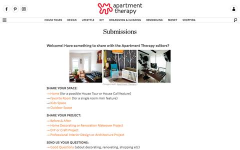 Submissions | Apartment Therapy