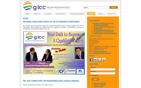 Screenshot of Blog gtcnconsultants.com - BLOG - captured Oct. 8, 2014