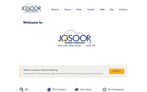 Screenshot of Home Page Site Map Page josoor.org - Josoor Internet Marketing | Leading provider of Digital Marketing Services in Egypt and the Arab World - captured Oct. 6, 2014