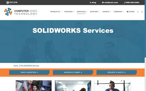 Screenshot of Services Page cati.com - SOLIDWORKS Services - captured Oct. 6, 2018