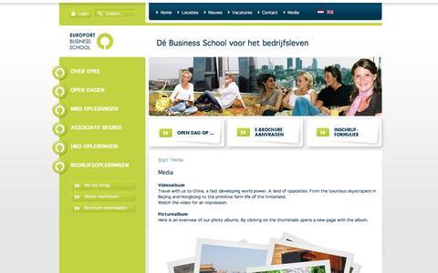 Screenshot of Press Page epbs.nl - EPBS - Media - captured Nov. 10, 2016