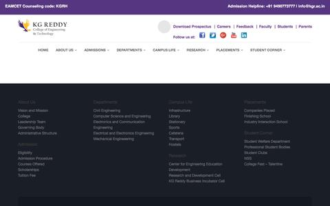 Screenshot of Team Page kgr.ac.in - TEAM – KG Reddy College Of Engineering and Technology - captured Nov. 27, 2016