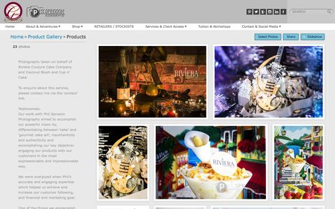 Screenshot of Products Page philsprosonphotography.co.uk captured Dec. 8, 2015