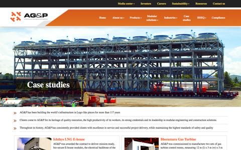 Screenshot of Case Studies Page agp.ph - AG&P:: Projects:: Case studies - captured May 9, 2017