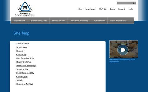 Screenshot of Site Map Page malnove.com captured Feb. 4, 2016