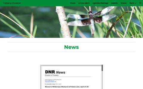 Screenshot of Press Page google.com - Indiana Division - News - captured July 3, 2018