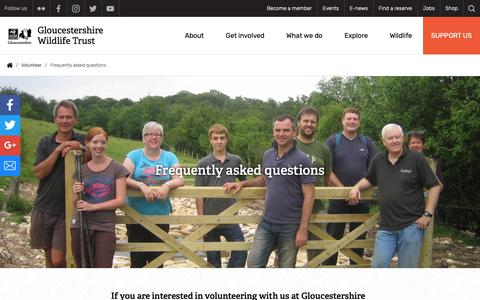 Screenshot of FAQ Page gloucestershirewildlifetrust.co.uk - Frequently asked questions | Gloucestershire Wildlife Trust - captured Nov. 5, 2018