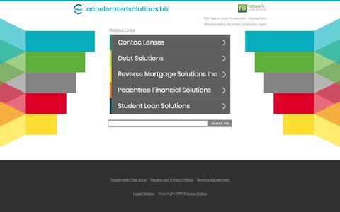Screenshot of Home Page acceleratedsolutions.biz - acceleratedsolutions.biz - captured Oct. 7, 2017