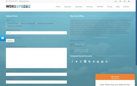 Screenshot of Support Page wordsphere.com - Wordsphere   Support - captured Oct. 18, 2018