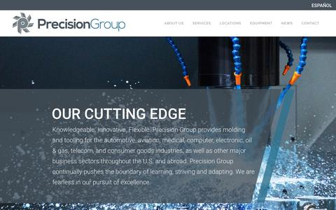 Screenshot of Home Page precision-group.com - IMS Molding,Whitlock Dryers And Master Precision Mold - captured Feb. 19, 2019