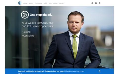 Screenshot of Home Page 2i-testing.com - 2i - Testing & Consulting | Edinburgh - captured Sept. 11, 2015