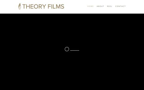 Screenshot of Home Page theory-films.com - Theory Films - Video Production Studio - captured Feb. 15, 2019