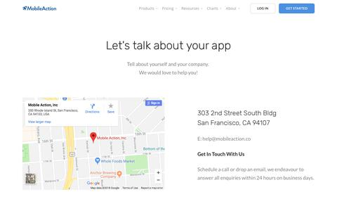 Contact | Mobile Action - App Marketing Intelligence Tool