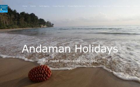 Screenshot of Home Page andamanholidays.com - Andaman Holidays | We make memorable holidays in Andaman Islands - captured Oct. 3, 2018