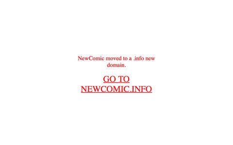 Screenshot of Home Page newcomic.org captured Feb. 18, 2016