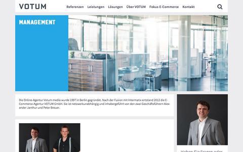 Screenshot of Team Page votum.de - Management - votum.de - captured Dec. 5, 2016