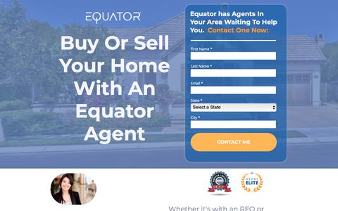 Screenshot of Landing Page equator.com - Equator Agent Contact Page - captured May 28, 2018