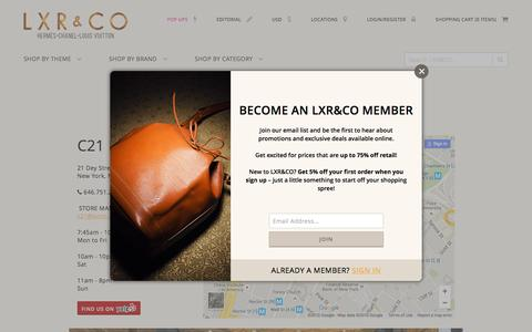 Screenshot of Locations Page lxrco.com - Boutique - LXR&CO Vintage Luxury - captured Dec. 6, 2015