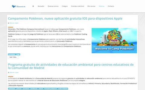 Screenshot of Blog campamentos.info - Blog de noticias Club campamentos.info - captured Oct. 27, 2014