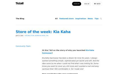 Screenshot of Blog tictail.com - Tictail blog : Tictail - captured July 18, 2014