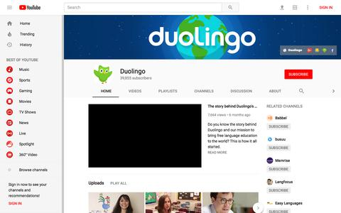 Duolingo - YouTube - YouTube