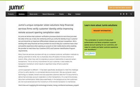 Verify Customer Identity - Jumio.com