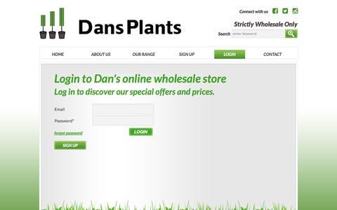 Screenshot of Login Page danswholesaleplants.com.au - Dans Plants - Log in to our online store - captured Jan. 3, 2017