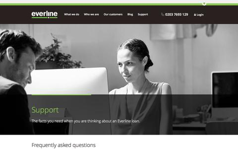 Screenshot of Support Page everline.com - Support | Everline - captured Dec. 12, 2015