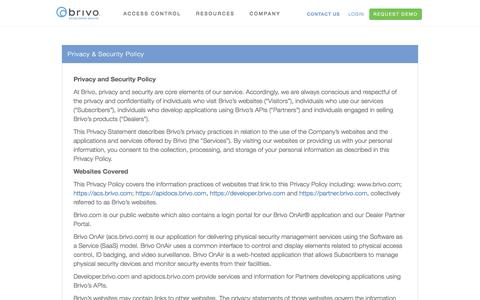 Privacy & Security Policy | Cloud Based Access Control System