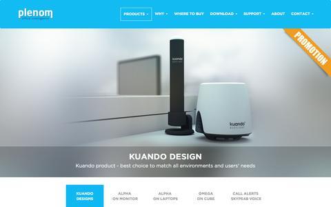 Screenshot of Products Page plenom.com - Kuando Busylight UC – For Skype4B, Lync, Cisco Jabber, more - captured June 26, 2016