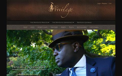 Screenshot of Products Page theprivelege.com - Shop Custom Suits, Coats, Shirts | Privelege - captured Feb. 1, 2016
