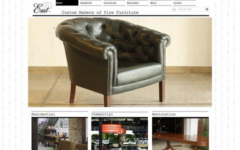 Screenshot of Home Page east-india.co.in - East | Fine Custom Furniture - captured Nov. 15, 2016