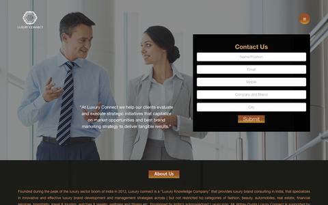 Screenshot of Home Page luxuryconnect.in - Luxury Connect - captured Sept. 30, 2018