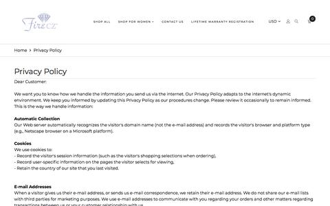 Screenshot of Privacy Page firecz.com - Privacy Policy  			 				– Fire CZ - captured Aug. 13, 2018