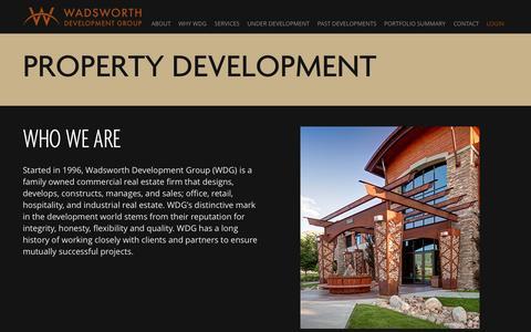 Screenshot of Services Page wadsdev.com - Property Development - captured Oct. 27, 2014
