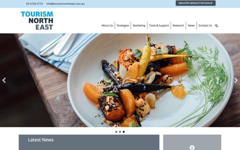 Screenshot of Home Page tourismnortheast.com.au - Tourism North East - Victoria's High Country - captured Nov. 7, 2017