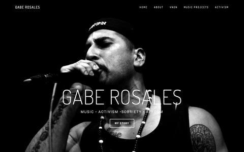 Screenshot of Home Page gaberosales.com - Gabe Rosales - captured Dec. 21, 2018