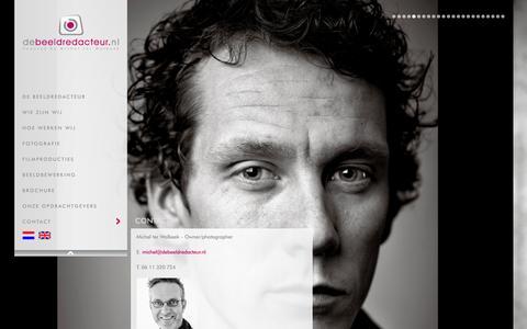 Screenshot of Contact Page debeeldredacteur.nl - Contact - captured Jan. 10, 2016