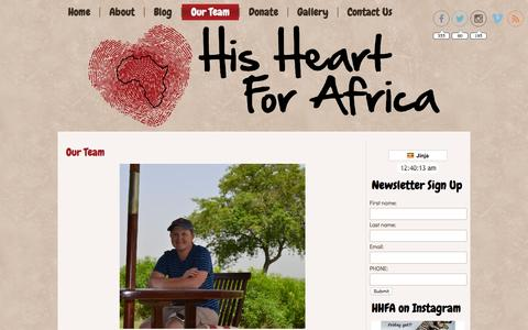 Screenshot of Team Page hisheartforafrica.org - Meet Our Board | - captured Sept. 26, 2015