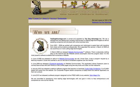 Screenshot of About Page topdogadvantage.com - Top Dog Advantage - captured Oct. 7, 2014