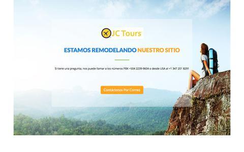Screenshot of Home Page jctourshonduras.com - TemplateToaster.com - captured Sept. 23, 2017