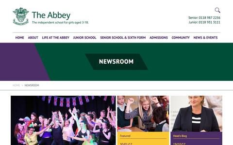 Screenshot of Press Page theabbey.co.uk - Newsroom | The Abbey School - captured Oct. 21, 2017